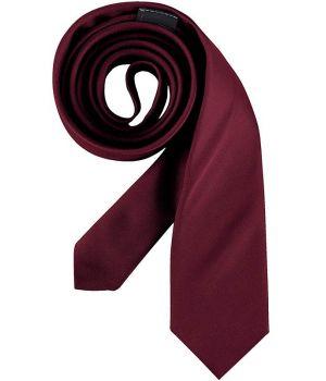 Cravate étroite, couleur Bordeaux, lavable