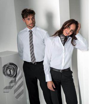 Cravate étroite Slim Line, Couleur Prince de Galles Gris, Lavable