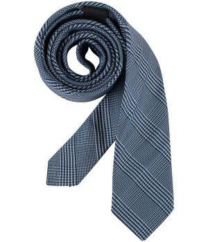 Cravate étroite Slim Line, Couleur Prince de Galles Bleu, Lavable