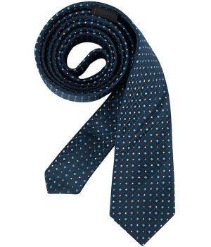 Cravate étroite Slim Line, Couleur Marine et Bleu clair, lavable