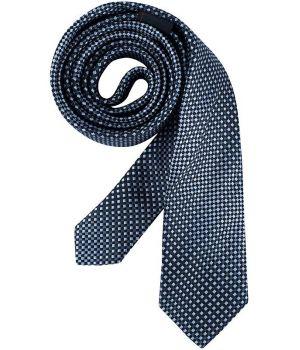 Cravate étroite Slim Line, Couleur Bleu et Gris à carreaux, lavable