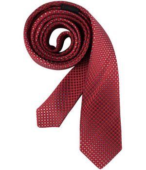 Cravate étroite Slim Line, Couleur Rouge et Gris à carreaux, lavable