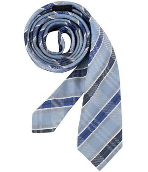 Cravate à carreaux bleu, lavable
