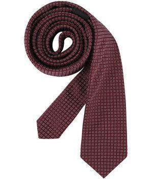 Cravate étroite Slim Line, Couleur Bordeaux, lavable