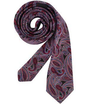 Cravate étroite Slim Line, Couleur Berry Cashmere, Lavable