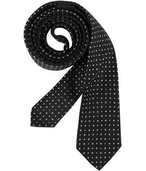 Cravate étroite Slim Line, Couleur Noir et Gris argent, lavable