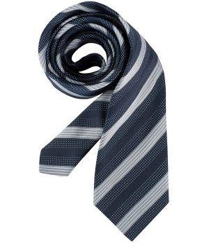 Cravate rayures bleu marine et gris, lavable, polyester