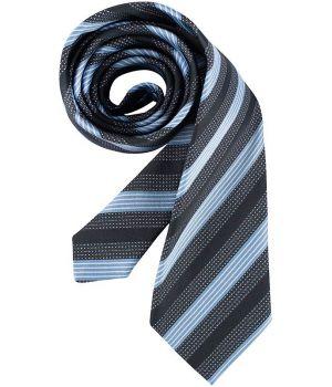 Cravate rayures bleu et gris, lavable, polyester