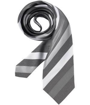Cravate, rayures gris argent, lavable