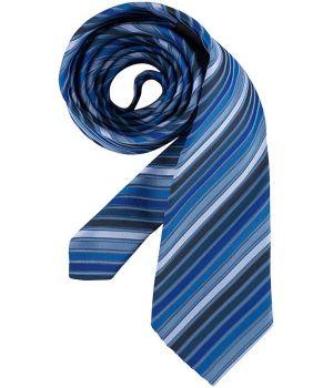 Cravate, rayures bleues, lavable