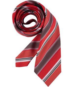 Cravate, rayures Rouge et gris, lavable