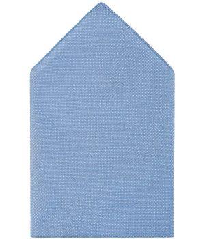 Pochette de Costume, 30cm x 30cm, Bleu clair à pois, Lavable en machine
