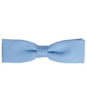 Noeud Papillon, Bleu clair à pois, Lavable en machine