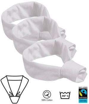 Foulard en triangle, blanc, Peut bouliir, le paquet de 3