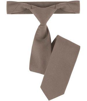 Cravate de service restaurant, bistro, couleur taupe, polyester coton