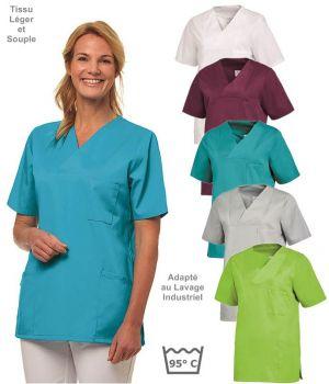 Blouse Médicale Femme, Tissu Léger et Souple, Peut Bouillir