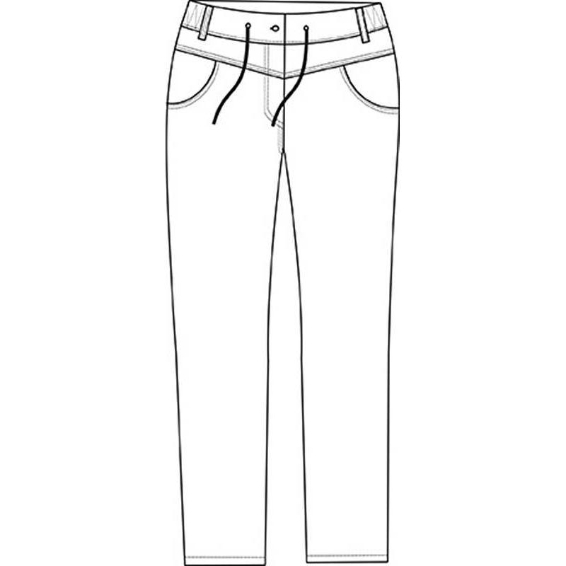 Blanc Elastiquée Pantalon DosStretchComfort Au FemmeTaille Style 8mNnOwyv0P