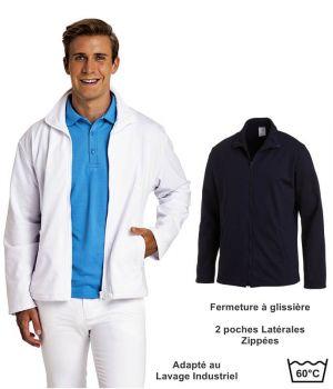 Veste sweat pour homme, Col montant, Fermeture à glissière, 2 poches latérales