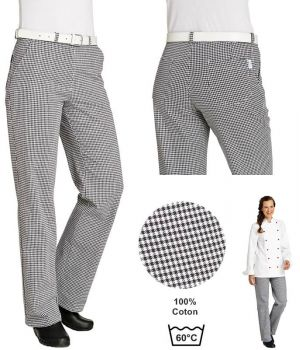 Pantalon cuisine ou boulanger, femme, Lavable à 95°C