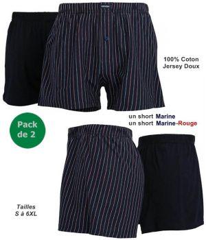 Short Homme Ceceba, Pack de 2, 100% Coton Jersey Doux