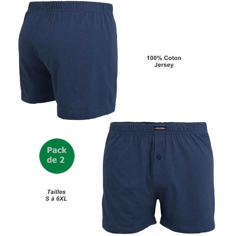 Vêtement BleuSous Jersey Short Confort HommePack De En 2Ceinture VGzjqUpLSM