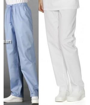 Pantalon Couleur Homme et Femme, Ceinture élastique, Polyester Coton