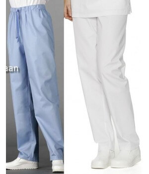Pantalon couleur homme, Ceinture élastique, polyester coton