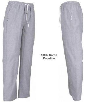 Pantalon de Pyjama ou de Détente, Couleur Mélange de Bleu clair, Coton