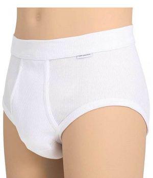Slip blanc homme, Coton peigné ultra doux, Ceinture élastique confortable et souple