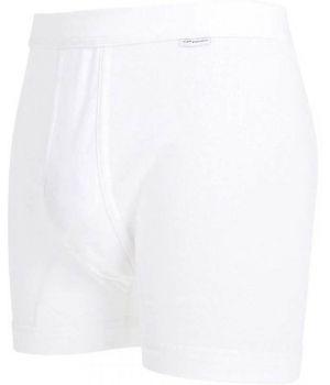 Boxer blanc homme, Coton peigné ultra doux simple côte, Ceinture élastique confortable
