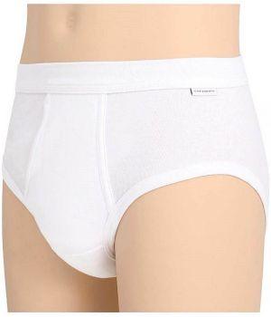 Slip blanc homme, Coton peigné ultra doux simple côte, Ceinture élastique confortable