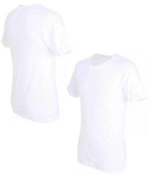 Maillot de corps t-shirt blanc Homme, Col rond, Coton peigné ultra doux simple côte