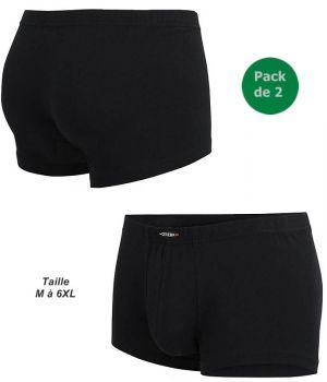 Boxer Noir Homme Ceceba, Pack de 2, Ceinture élastique confort, Sans coutures latérales