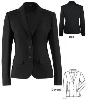 Blazer femme noir, coupe droite, classique et confortable