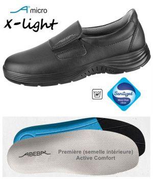 Chaussures Femme et Homme Abeba, Microfibre Noir, Elastique à l'Empeigne