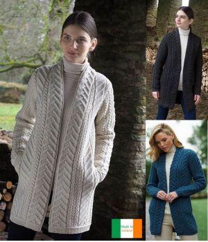 Manteau Femme Irlandais, Motif traditionnel Arbre de vie Longueur 3/4
