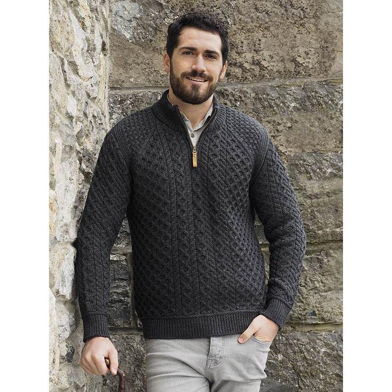 magnifique pull irlandais pour homme laine m rinos super. Black Bedroom Furniture Sets. Home Design Ideas