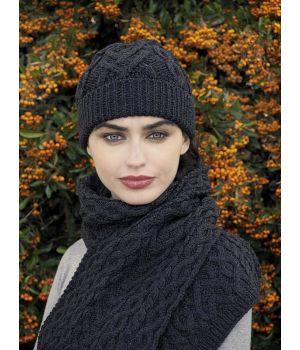Bonnet Irlandais en laine Mérinos Très Douce Superbement Confectionnée