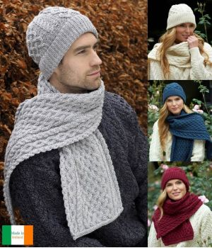 Magnifique Bonnet Irlandais Femme et Homme, 100% Laine Merinos