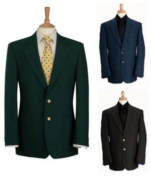 Blazer homme club, veste droite, Coupe classique, entièrement doublé