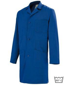 Blouse de travail coton, manches longues Adolphe Lafont, bleu roi