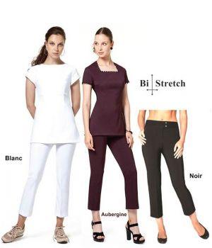 Pantalon 7/8 femme, Très confortable grâce au Bi-Stretch, Entretien facile