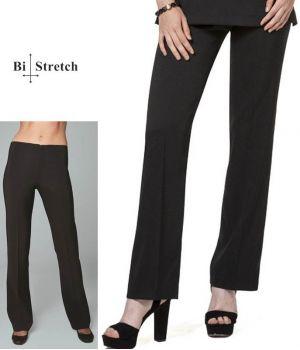 Pantalon Femme Noir, Coupe Droite Classique et Chic, Bi-stretch Confort.