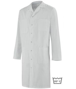 Blouse blanche homme, Col transformable, coton Adolphe Lafont
