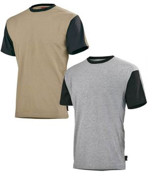 T-shirt col rond, Adolphe Lafont, bicolore