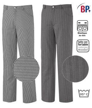 Pantalon de Cuisine Homme et Femme, Coupe Jean, Peut Bouillir