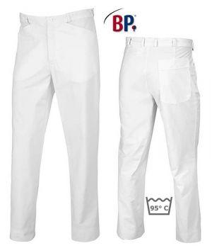 Pantalon Blanc Homme, Coupe Jean, 100% Coton, Peut Bouillir.
