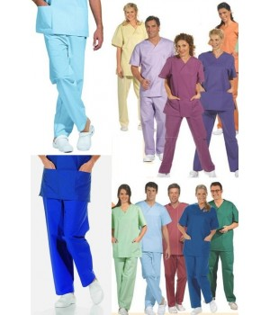 Pantalon couleur homme ou femme, Adapté au lavage industriel