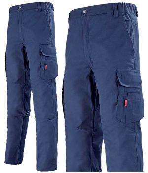 Pantalon de Travail Row Bleu Marine Adolphe Lafont, Ceinture Elastiquée