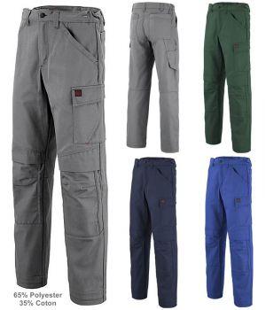 Pantalon de Travail Adolphe Lafont, Modèle Basalte, Polyester Coton